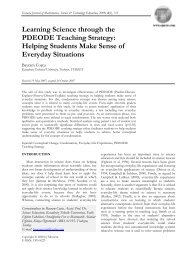 Learning Science through the PDEODE Teaching Strategy: Helping ...