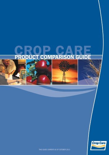 Product comParison Guide - Crop Care Australasia