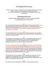 Schiedsgerichtsordnung - Freie Wähler Bayern
