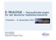 E-Mobilität - Herausforderungen für die deutsche ... - zuliefertag.de
