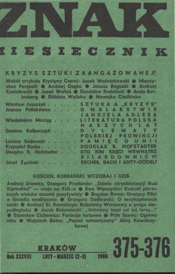 Nr 375-376, luty-marzec 1986 - Znak