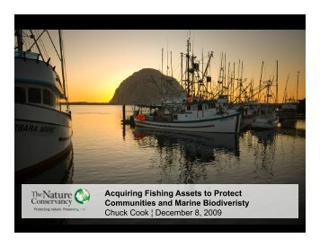 Acquiring Fishing Assets to Protect Communities and Marine - safsf
