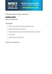 Draft agenda - Euromines