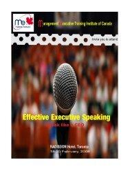 effective speaking toronto -eric oct 23-25.pub - ME training institute ...