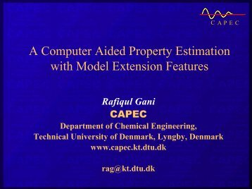 A Computer Aided Property Estimation with Model ... - CAPEC