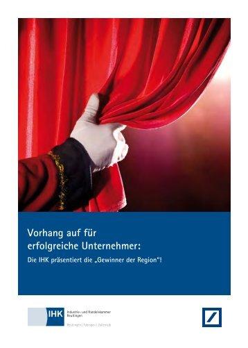 Vorhang auf für erfolgreiche Unternehmer: - bei der IHK Reutlingen