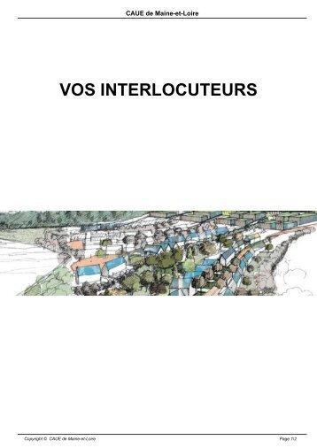 VOS INTERLOCUTEURS - CAUE