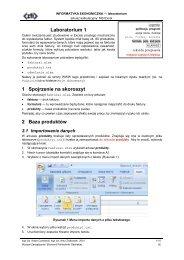 Faktura - Wydział Zarządzania i Ekonomii