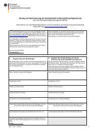 Anerkennungsantrag BFD für Einsatzstellen