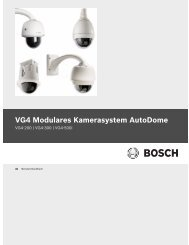 VG4 Modulares Kamerasystem AutoDome - Bosch Security Systems