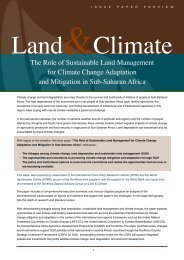 The Role of Sustainable Land Management for Climate ... - CAADP