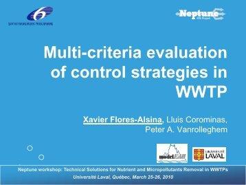 Multicriteria evaluation of control strategies - EU Project Neptune