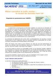 le recueil de données hors sol - Atec/ITS France