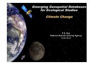 Emerging Geospatial Databases for Climate Change Studies