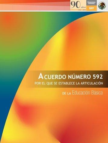 Acuerdo 592 de la Educación Básica