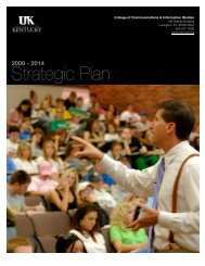 Strategic Plan - College of Communication and Information