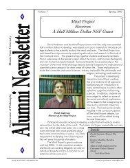 03 alumni newsletter - Philosophy - Illinois State University