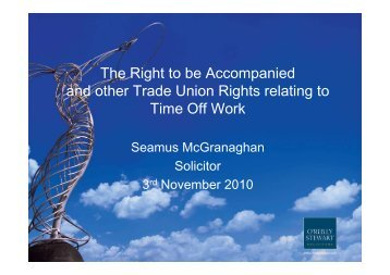 The Right to be accompanied and other Trade Union Rights