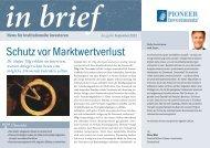 Schutz vor Marktwertverlust - Institutionelle Investoren - Pioneer ...