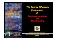Incentives Promoting the Effective Use of Energy - CPUT Active Web