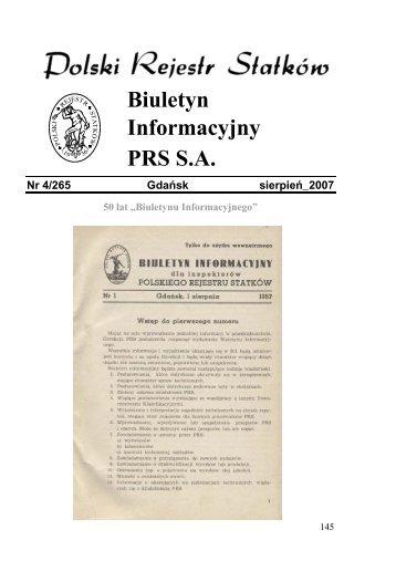 Nr 4/265 Gdańsk sierpień 2007 - PRS