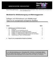 Merkblatt für Abfallentsorgung und Mehrweggeschirr - Stadtfest Baden