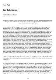 Jean Paul Der Jubelsenior - Kostenlose Bücher und freie Werke
