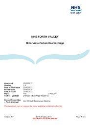 Minor Ante-Partum Haemorrhage - NHS Forth Valley