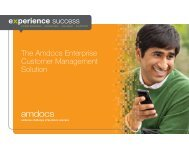 The Amdocs Enterprise Customer Management Solution