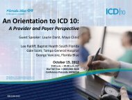 An Orientation to ICD 10 - Florida Blue