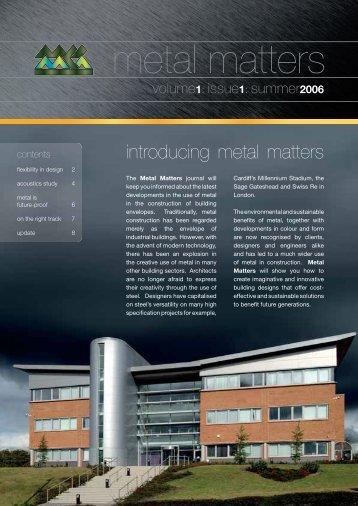 Metal Matters Volume 1: Issue 1: Summer 2006 - MCRMA
