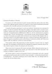 Puoi leggere l'invito e consultare il programma - Arcidiocesi di Lucca