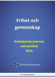 Kristdemokraternas valmanifest 2014