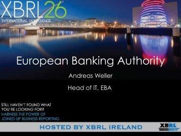 FREG2. European Banking Authority, Andreas Weller, EBA