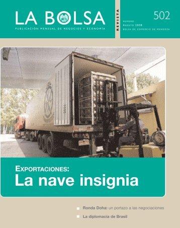 agosto 08 - Bolsa de Comercio de Mendoza