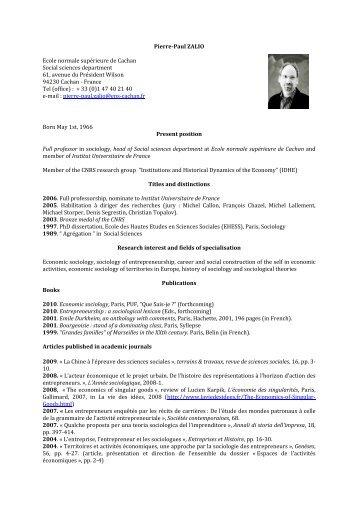 CV PP Zalio - Melissa - ENS Cachan