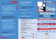 Stop à la violence conjugale - Centre de planification du chru de lille