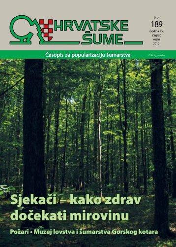 Sjekači – kako zdrav dočekati mirovinu - Hrvatske šume