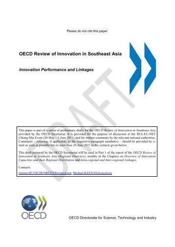 OECD Review of Innovation in Southeast Asia
