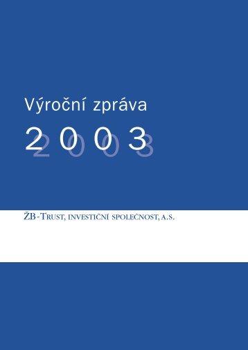 Výroční zpráva k 31.12.2003 - Pioneer Investments
