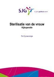 Sterilisatie vrouw - SJG Weert