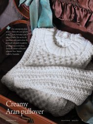 Creamy Aran pullover - Love of Knitting
