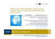 Werken met sociale netwerken in de zorg voor ... - Kennisplein