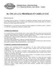 38. ÚPLATA ZA PŘEDŠKOLNÍ VZDĚLÁVÁNÍ - Základní škola a ...
