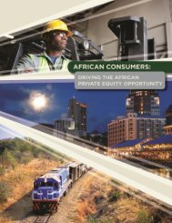 Driving the African Private Equity Opportunity - FMO