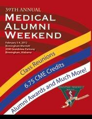 39th Annual - Alabama Medical Alumni