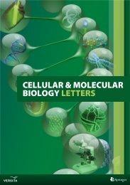CELLULAR & MOLECULAR BIOLOGY LETTERS - Versita