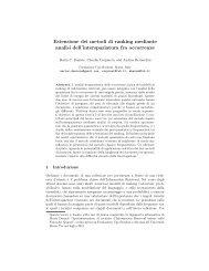 Estensione dei metodi di ranking mediante analisi dell ...