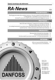 RA-News 2/2000 - Spécialistes Suisse - Danfoss