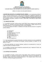Edital nº 21/2012 - Prefeitura de Aracaju